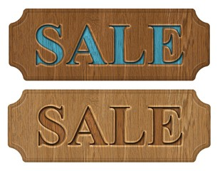 set of label sale on a white background