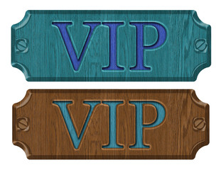 VIP label tag isolated on white background