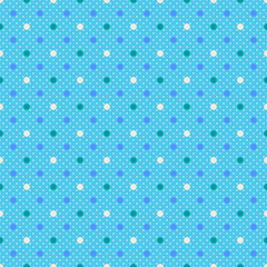 Vector Background # Polka Dot Pattern, Skyblue