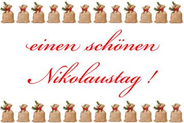 Jutesäckchen - einen schönen Nikolaustag
