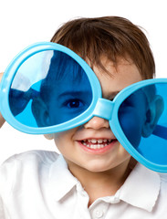 little child with sunglasses