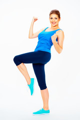 fitness woman dooing dancing exercise.