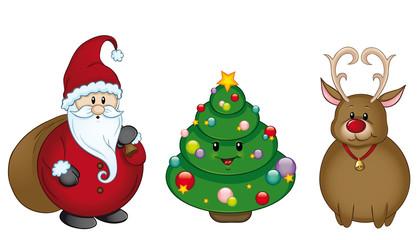 Weihnachtsfiguren Set Kollektion Sammlung
