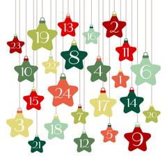 Advent Calendar Stars Green/Red