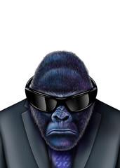 Gorilla-business-sonnenbrille-isolated