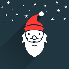 Santa Flat Christmas design