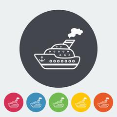 Ship flat icon.