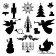 Weihnachten Silhoutten Christmas Symbols Set
