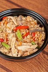 Rice chicken vegetable