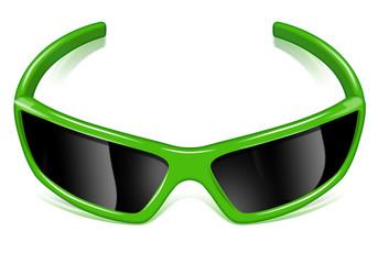 Sonnenbrille-grün