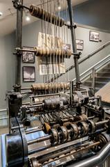Antique news paper conveyor belt