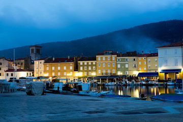 Cres in Croatia by night