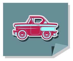 Flat illustration of classics cars