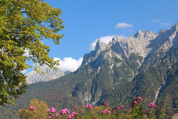 Bergblick Karwendelgebirge