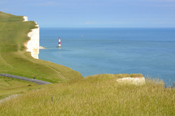 Lighthouse at Beachy Head. England