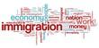 Immigration - world cloud concept