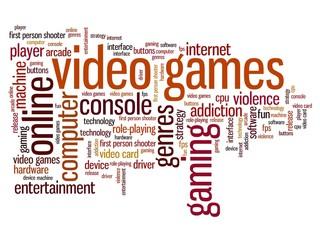 Video games - world cloud concept