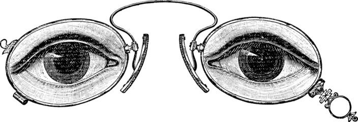 Vintage graphic eyeglasses