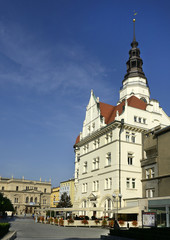 Opava, the main square and old town hall, Czech Republic