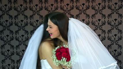 Couple  kissing lesbian bride  women kissing .Wedding.