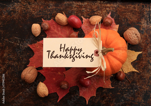 Tuinposter Herfst Thanksgiving quote