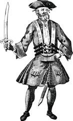 Vintage graphic pirate