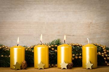 adventskerzen, dritter advent