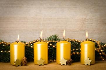 adventskerzen, vierter advent
