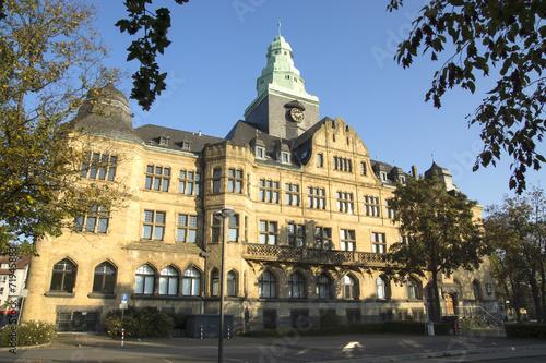 Leinwanddruck Bild Rathaus der Stadt Recklinghausen, NRW, Deutschland