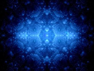Blue glowing heaven