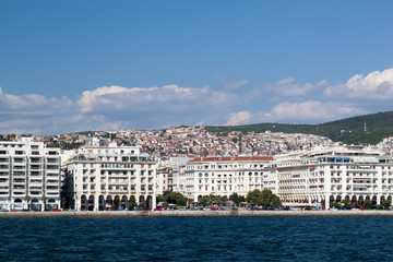 Panorama of coastal city
