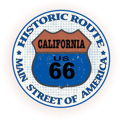 historic route california stamp