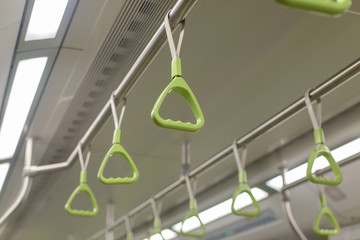 Green bus and train holder