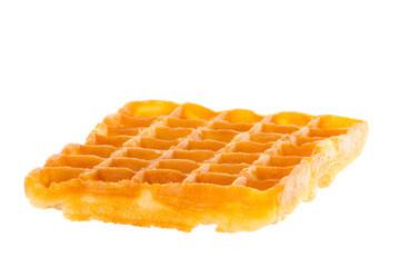 Freshly baked waffle brightened