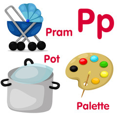 Illustrator of P alphabet