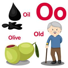 Illustrator of O alphabet