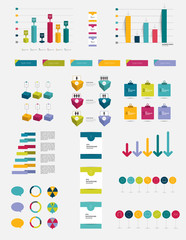 Infographics flat, 3D elements.