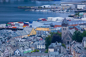 Norway - View of the city of Alesund