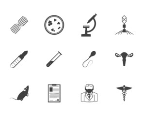 Black icons for genetics