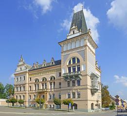 The main square of Prelouc, Czech Republic