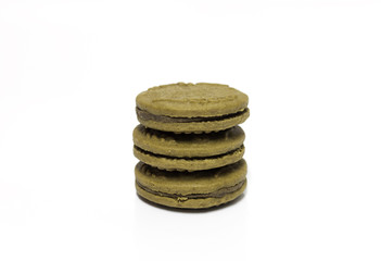 cookies,Stack of cookies. Isolated
