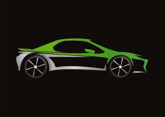 car automotive green concept design vector