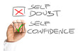 Self Doubt and Confidence Check Box List - 71949043