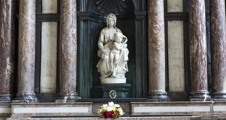 Madonna of Bruges by Michelangelo, Bruges, Belgium