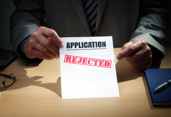 Application rejected