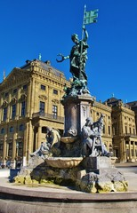 Frankoniabrunnen und Residenz, Würzburg