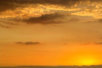 ciel après coucher de soleil
