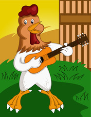 rooster sing