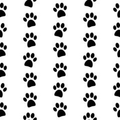 Paw symbol seamless pattern