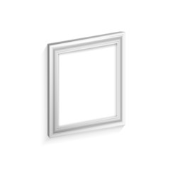white frame for paintings isolated on white background